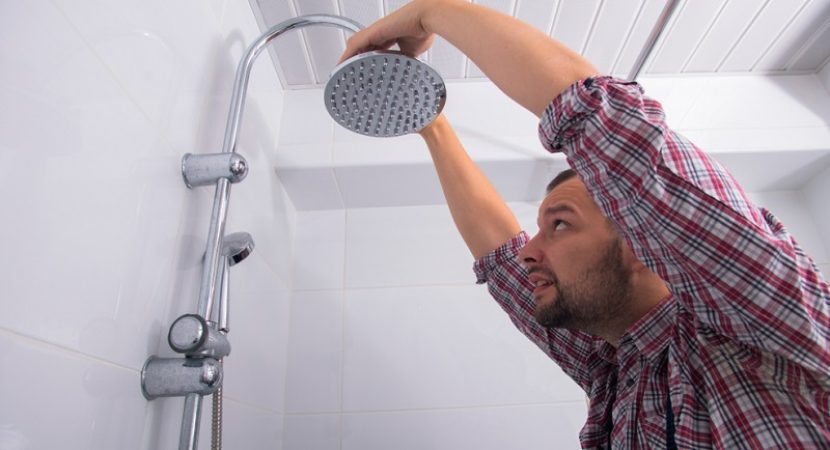 recommended shower head height
