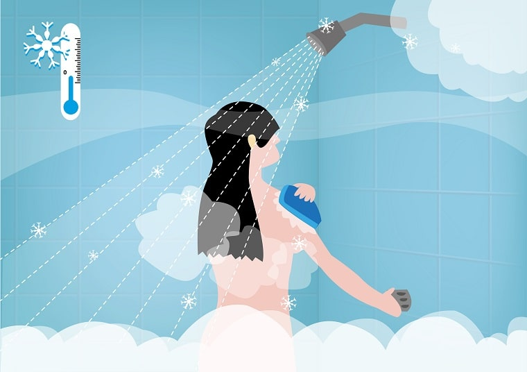 hot or cold shower after workout