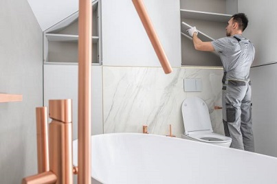 how to install over the toilet storage