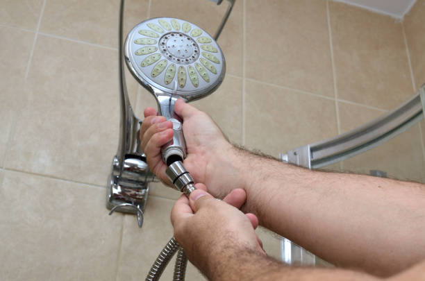 install shower head pipe